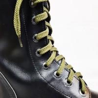 """Шнурки для кроссовок и кед """"Оливковые плоские 8 мм - 1.5 м"""""""
