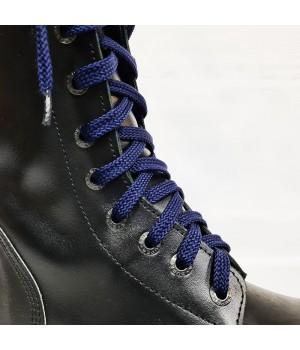 "Шнурки для кроссовок и кед ""Темно-синие плоские 8 мм - 1.5 м"""