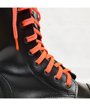 """Шнурки для кроссовок и кед """"Кислотно-розовые плоские 8 мм - 1.5 м"""""""