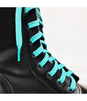 """Шнурки для кроссовок и кед """"Бирюзовые плоские 8 мм - 0.8-1.5 м"""""""