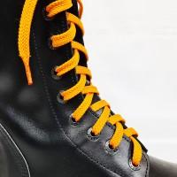 """Шнурки для кроссовок и кед """"Оранжевые плоские 8 мм - 1.5 м"""""""