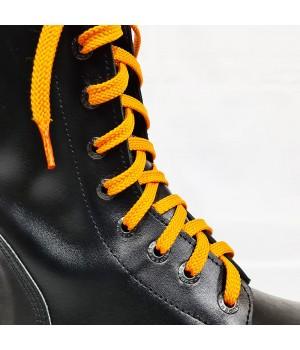 """Шнурки для кроссовок и кед """"Оранжевые плоские 8 мм - 0.8-1.5 м"""""""