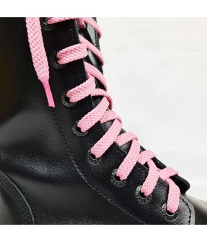 """Шнурки для кроссовок и кед """"Светло-розовые плоские 8 мм - 1.5 м"""""""