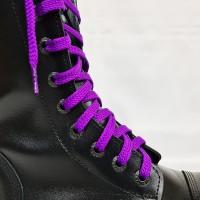 """Шнурки для кроссовок и кед """"Фиолетовые плоские 8 мм - 1.5 м"""""""