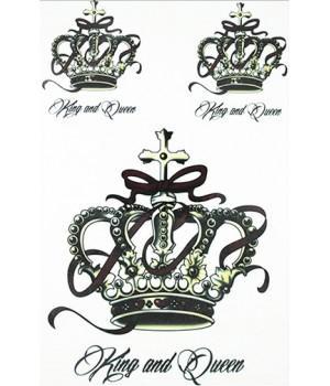 """Переводные тату """"King and Queen"""""""