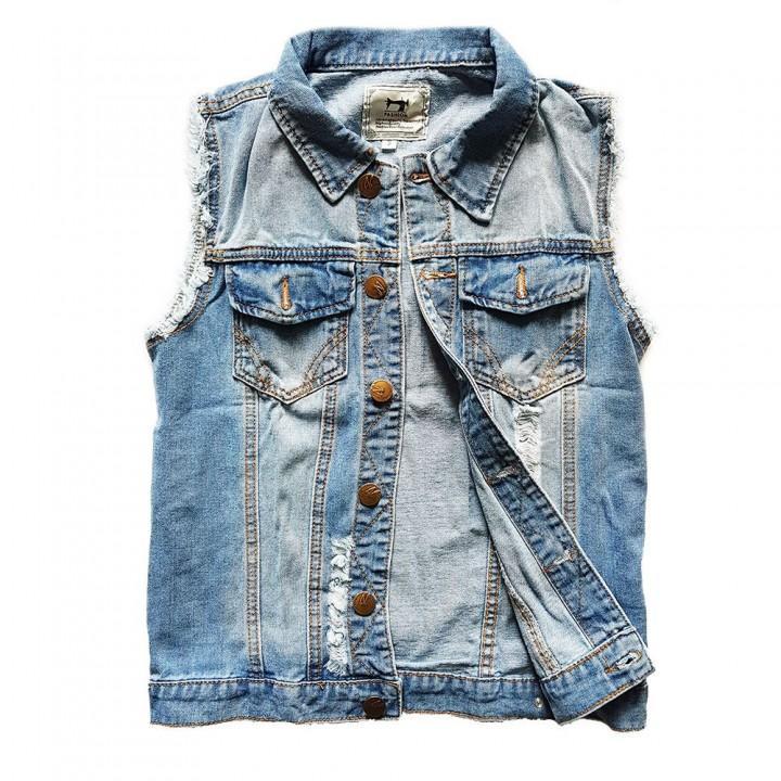 Жилет джинсовый голубой (8865)