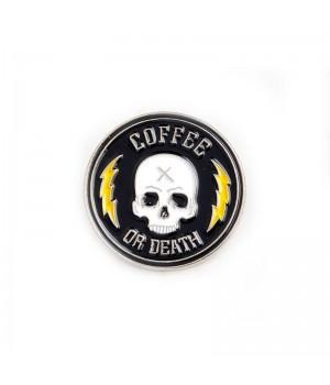 "Значок-пин ""Coffee Or Death"""