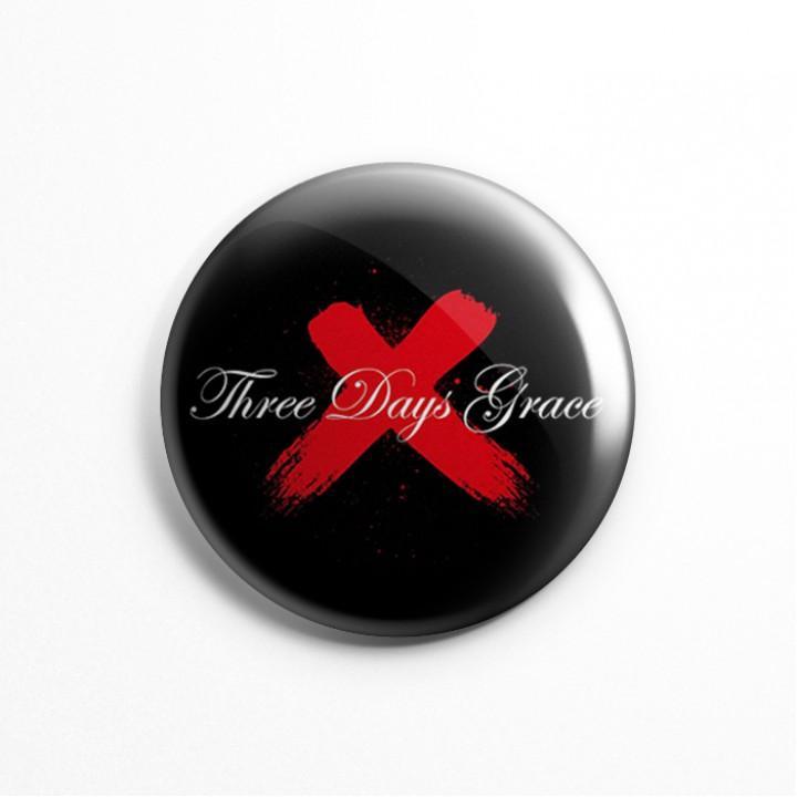 """Значок """"Three Days Grace"""" 3,7 см (13568)"""