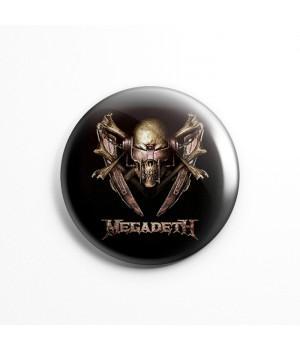 "Значок ""Megadeth"" 3,7 см"