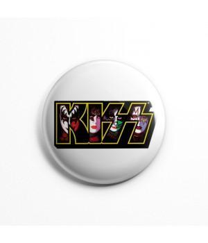 """Значок """"Kiss"""" 3,7 см"""