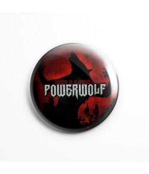 """Значок """"Powerwolf"""" 3,7 см"""