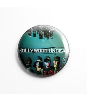 """Значок """"Hollywood Undead"""" 3,7 см"""