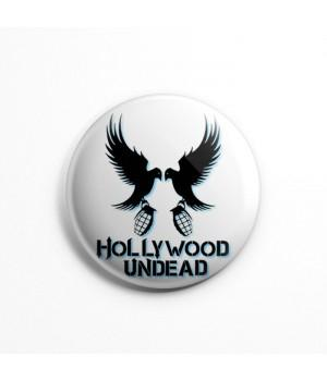 "Значок ""Hollywood Undead"" 3,7 см"