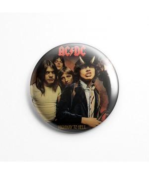 """Значок """"AC/DC"""" 3,7 см"""