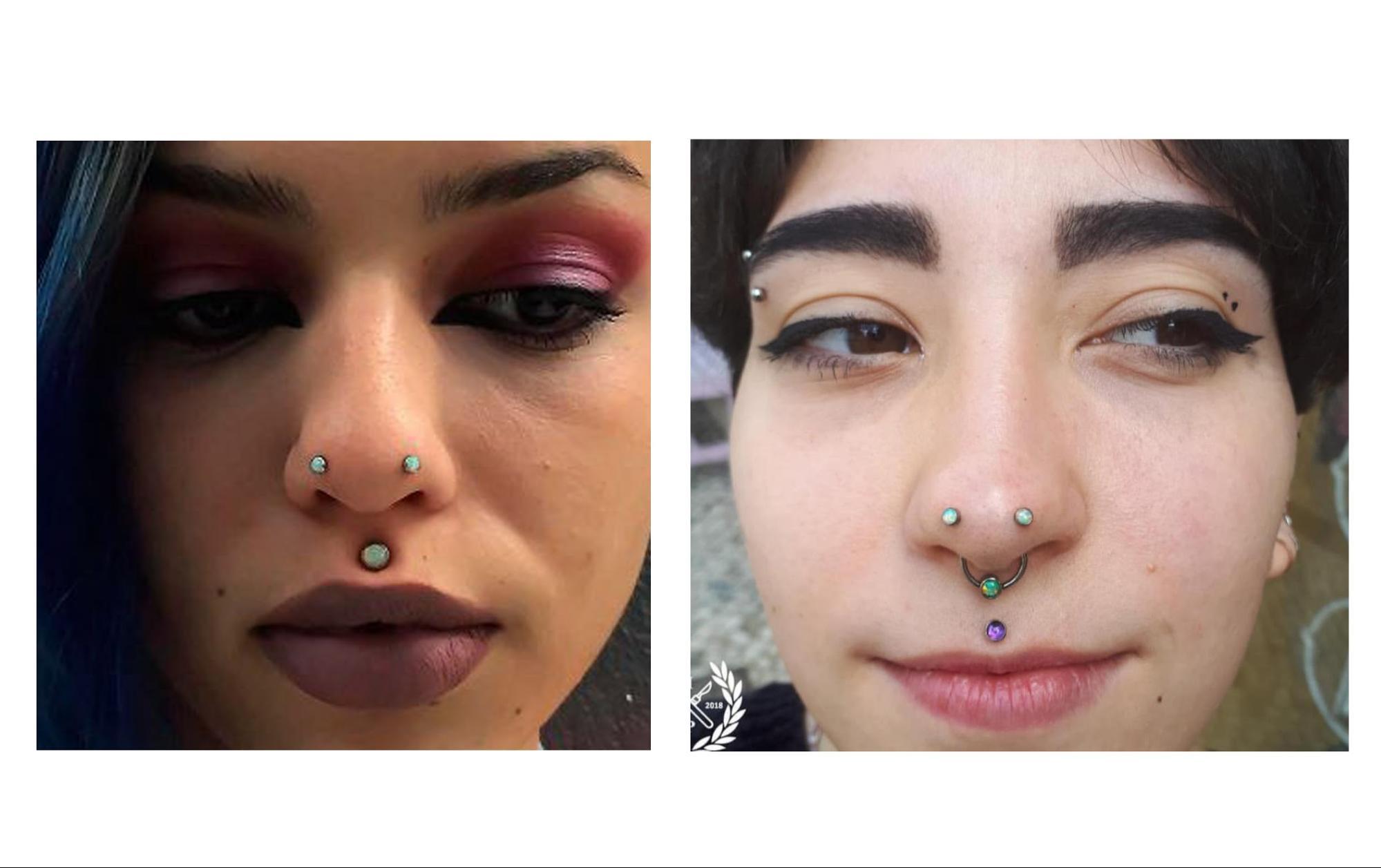 пирсинг носа 5