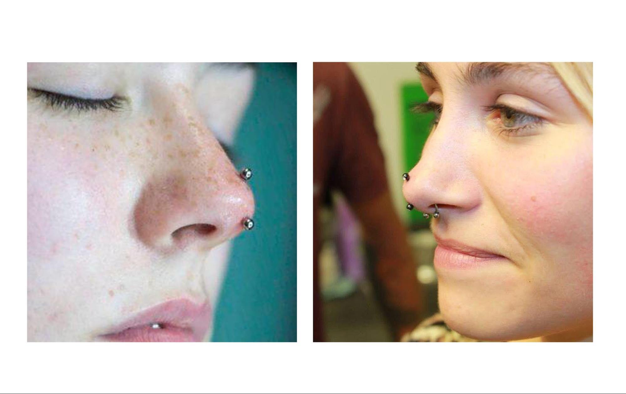пирсинг носа 8
